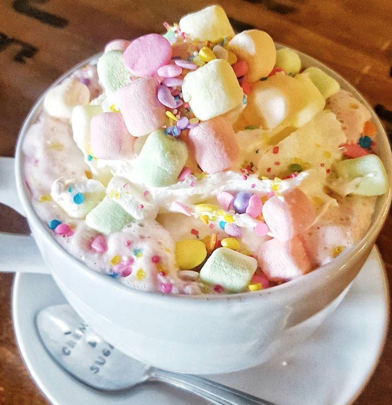 Chromatic Unicorn Hot Chocolates