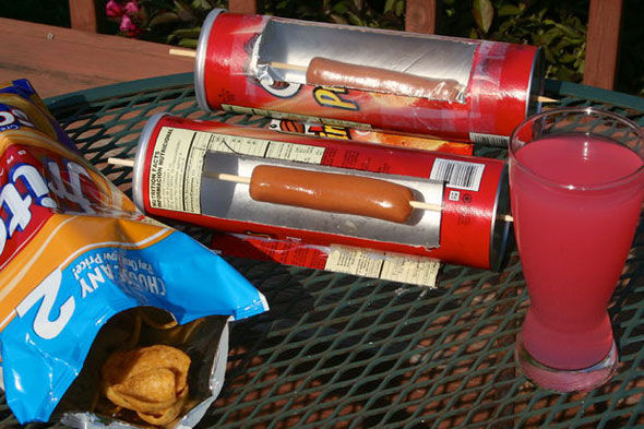 DIY Chip Container Grills