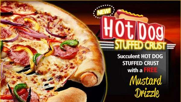 hot dog stuffed crust