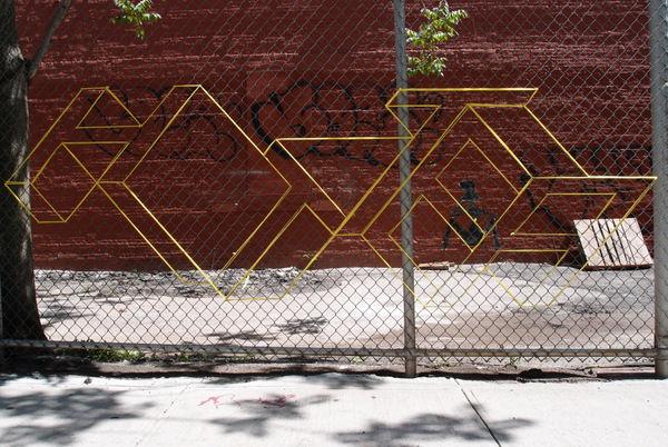 Blocked Yarn Grafitti Art