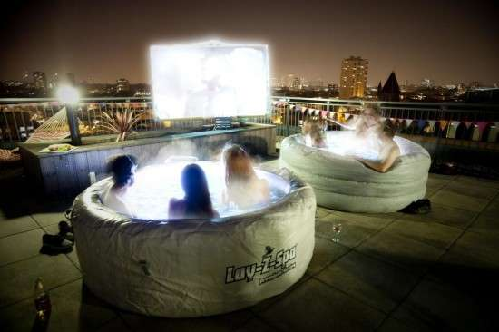Luxurious Jacuzzi Movie Theaters