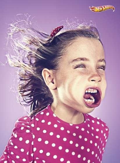 Windblown Kid Face Ads