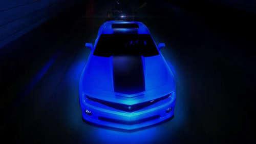 custom luminescent sports cars hot wheels camaro. Black Bedroom Furniture Sets. Home Design Ideas