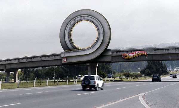 Hot Wheels Loop BIllboard