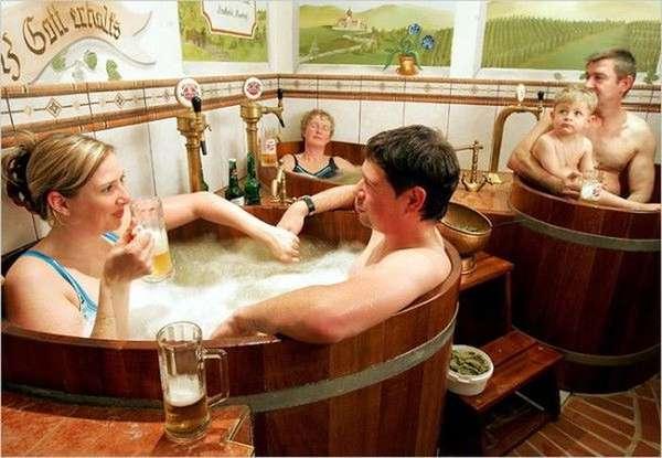 Rejuvenating Beer Baths