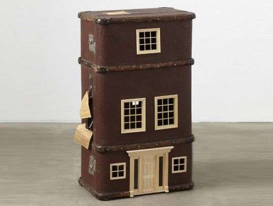 Vintage Suitcase Sculptures