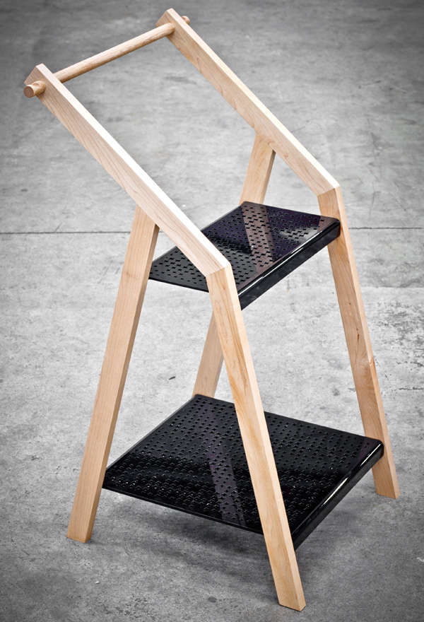 Step Stool-Like Clothing Racks