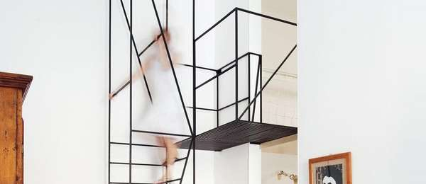 Wiry Minimal Stairs House C Staircase