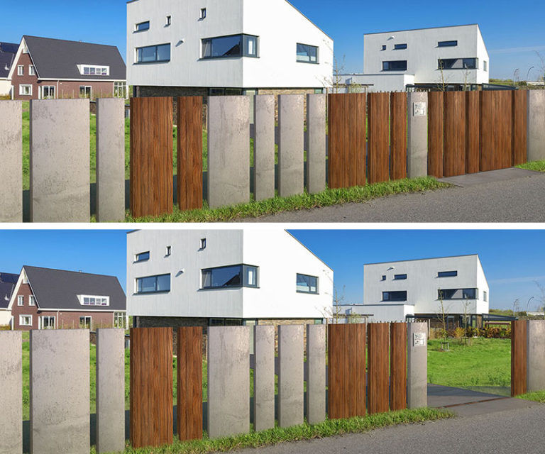 Retractable House Gates