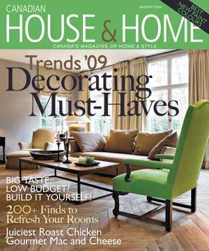 House & Home Magazine: Jeremy Gutsche on  Home Decor Trends in 09