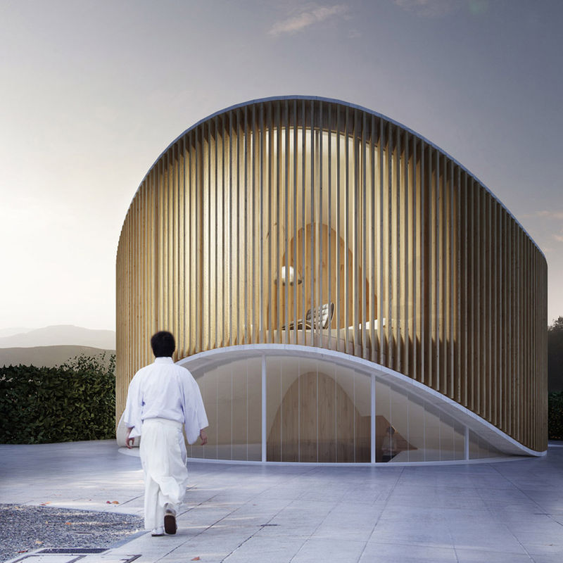 Curved Timber Abodes House O