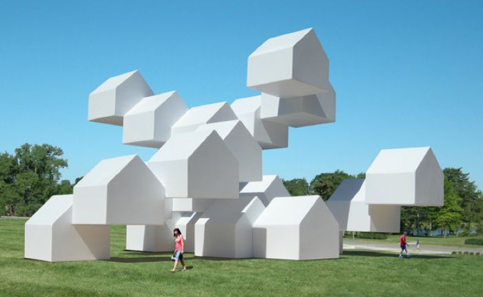 Surreal House Sculptures