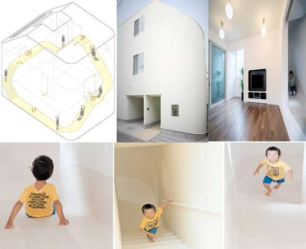 Elementary School Abodes House With Slide Maneuvering
