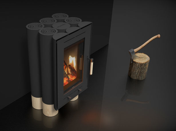 Log-Inspired Wood Stoves