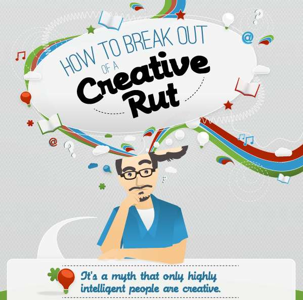 how to be creative infographic
