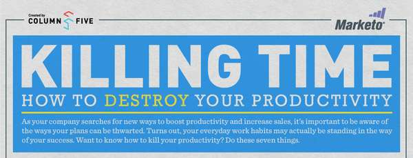 'How to Destroy Your Productivity' infographic