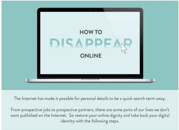how to disappear online