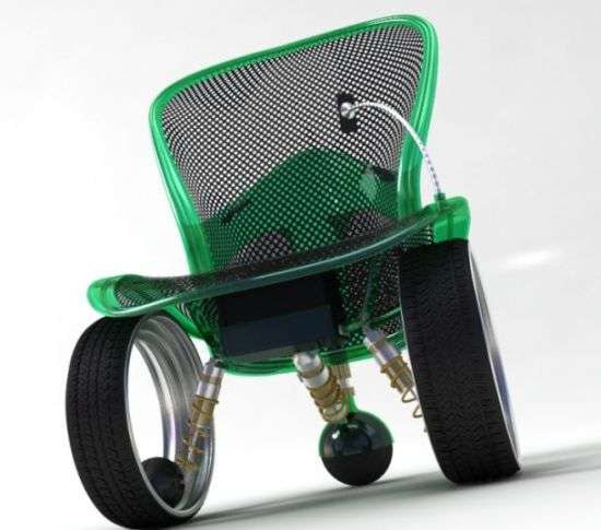 Hubless Wheelchair Concept