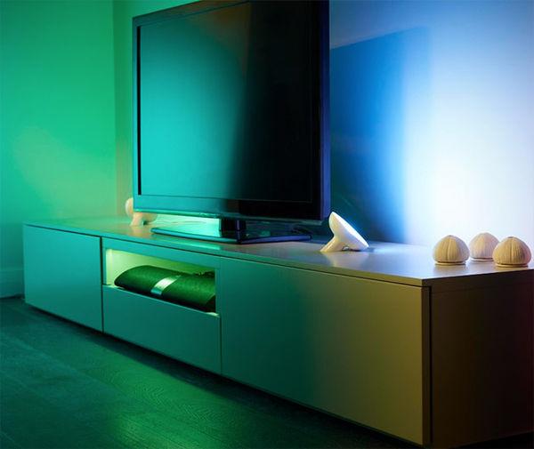 customizable mood lighting hue lighting system. Black Bedroom Furniture Sets. Home Design Ideas