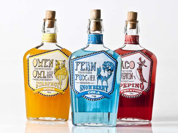 Quirky Soft Drink Branding