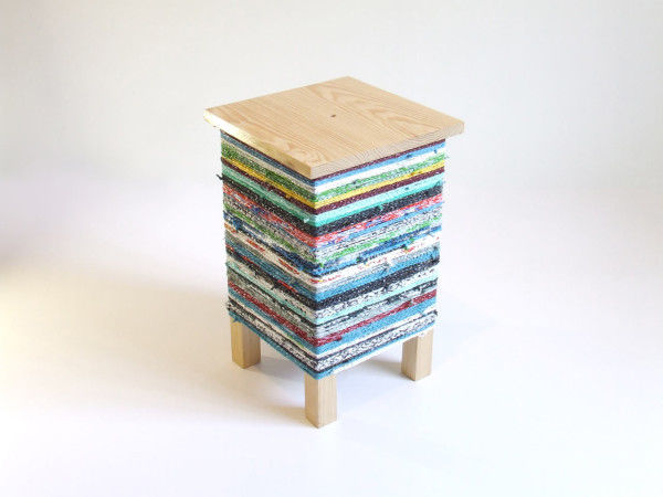Plastic Bag-Wrapped Stools