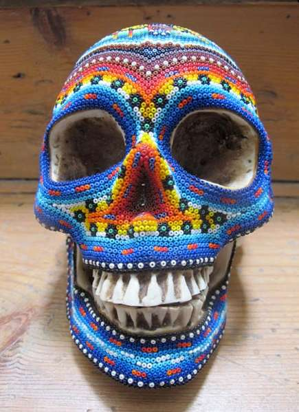 Intricate Technicolor Skulls