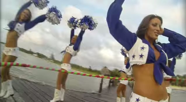 Hula Hooping Cheerleader Videos