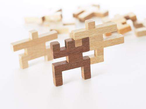 People Puzzle Pieces Human Blocks Are Made To Bring The