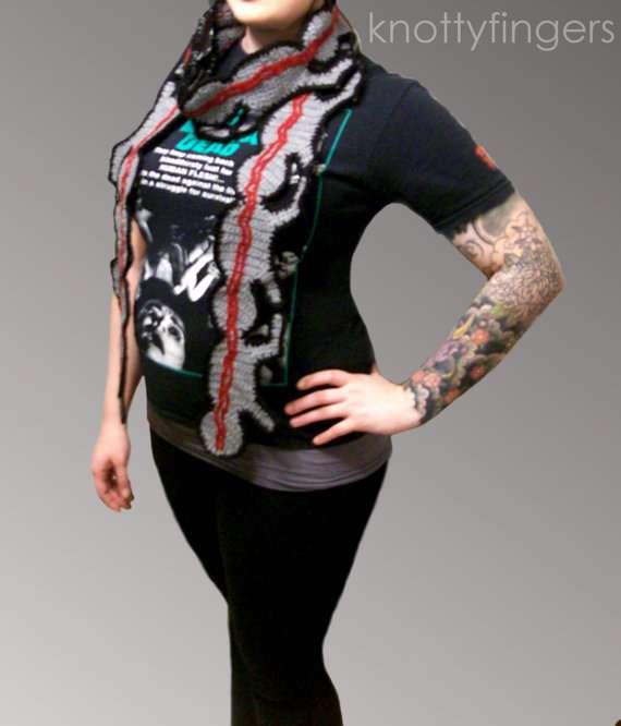 Grotesque Crochet Scarves