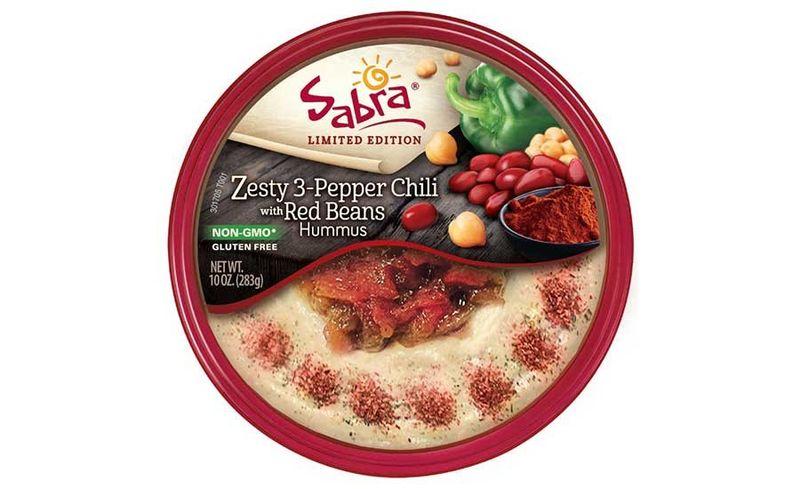 Zesty Autumnal Hummus Snacks