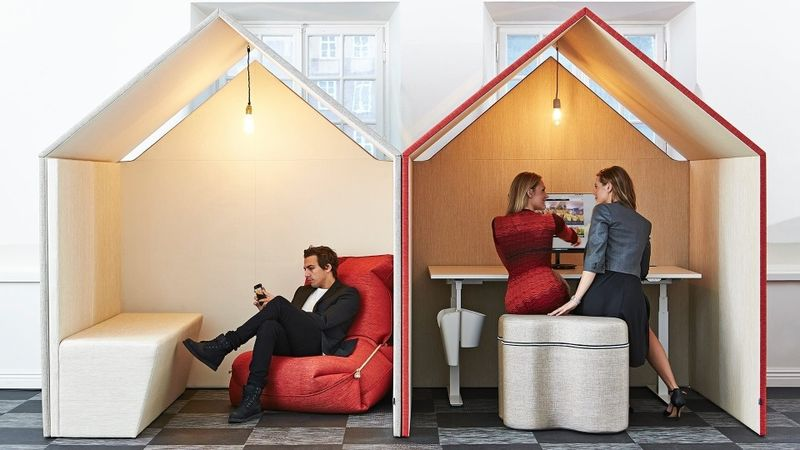 Hut-Shaped Office Furniture