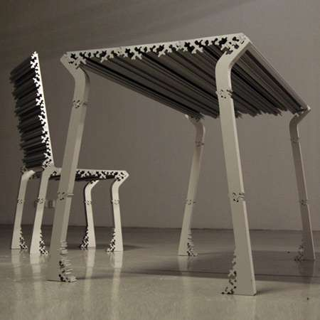Puzzle Piece Table Puzzle Piece Chairs