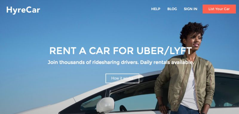 Ridesharing Car Rentals