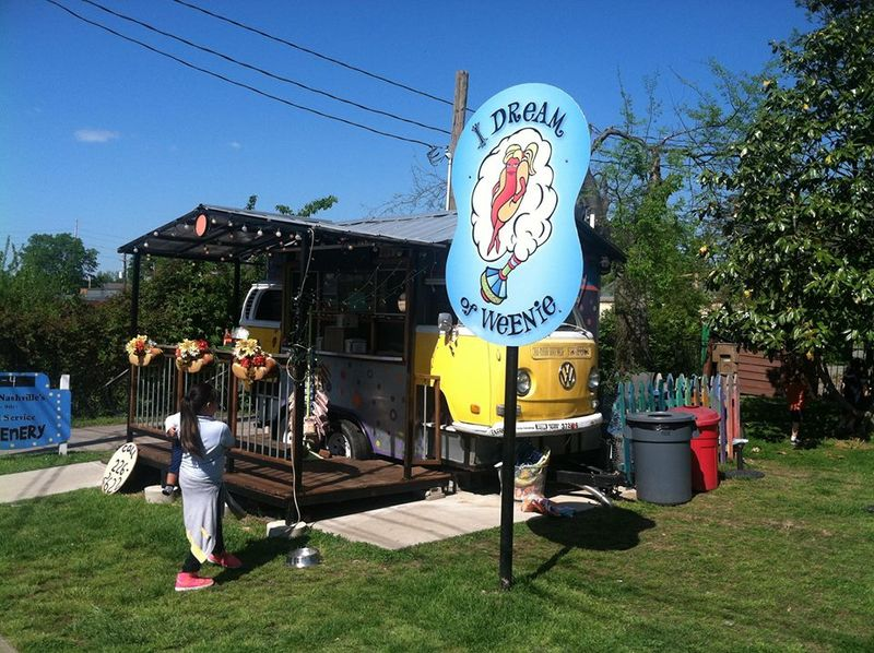 Converted Bus Food Stands