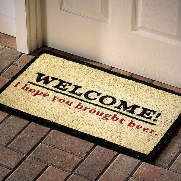 Cheeky Booze-Demanding Doormats