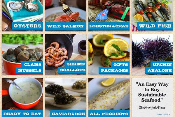 Sustainable Web-Ordered Seafood