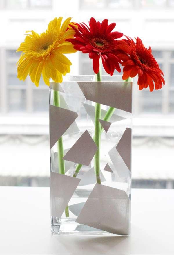 Geometric Container Diys I Spy Diy Painted Vase