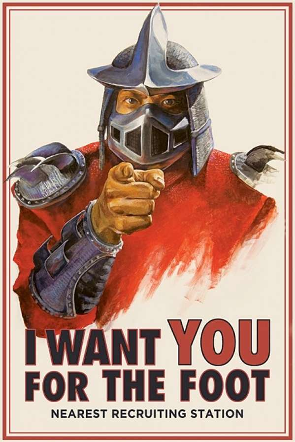 Foot Clan Recruitment Prints