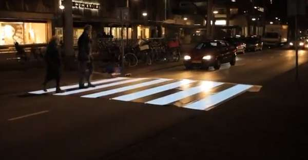 Flashing Zebra Crosswalks