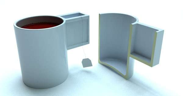 Clever Compartmentalized Mugs