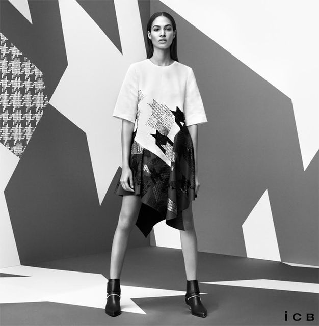 Geometric Print Fashion Campaigns Icb Fall Winter 2014 2015