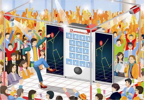 Dance-Rewarding Vending Machines