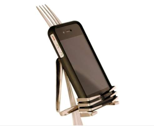 Cutlery-Inspired Phone Holders
