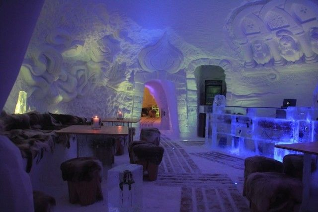 Functional All-Ice Igloo Lodges