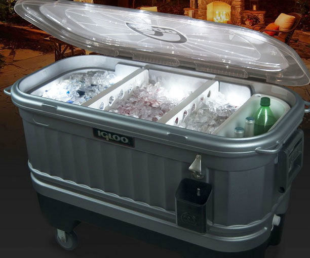 Light Embedded Coolers Igloo Party Bar Cooler