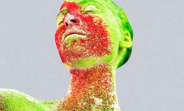 Neon Splatter Photography