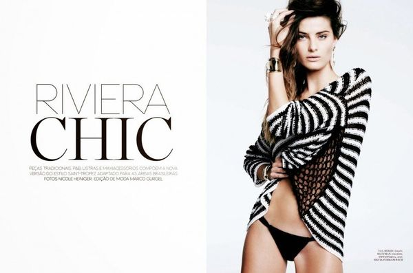 Monochromatic Beachwear Editorials