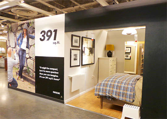Miniscule Model Apartments Ikea 391 Square Foot