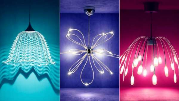 SÖdersvik Led Ceiling Lamp Ikea: Sculptural Artistic Chandeliers : Ikea Experiments In Led