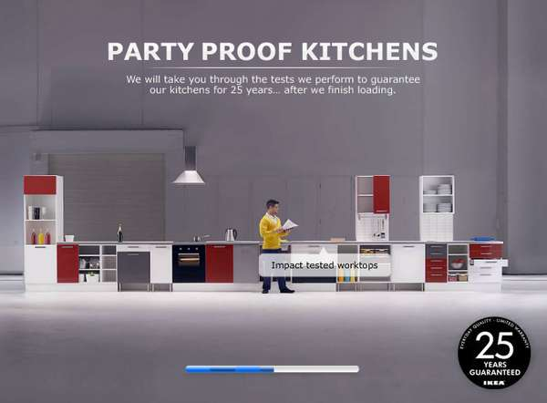ikea party proof kitchen